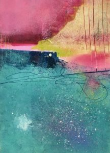 Imaginary-Landscape-16x12-Oil+Cold-Wax+pastel-&-gemstone-dust-on-paper