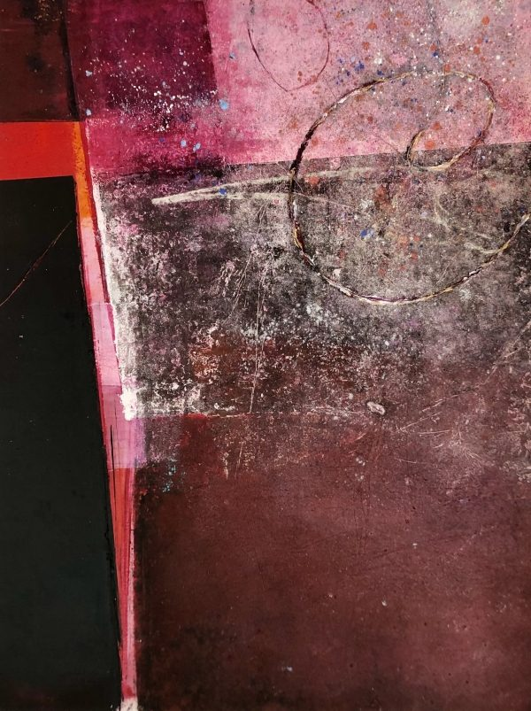 Liminal Space (h) 20x16 Oil+cold wax + mixed media