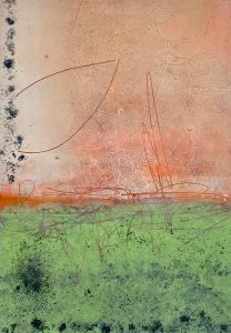 A Season of Waiting (2) Oil+Cold Wax+Mixed Media 16x12 on Paper