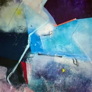 Have You No Scruples? 36x48 oil, cold wax, mixed media on paper