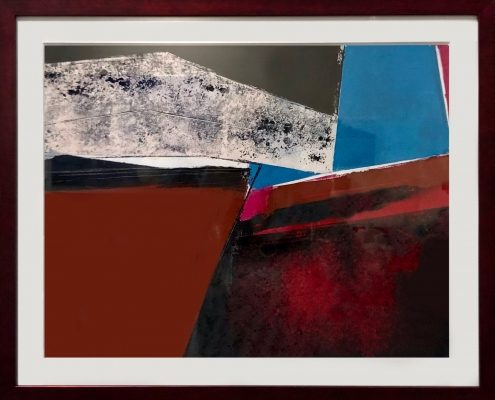 Is There Life on Mars? 1 20x24 oil, cold wax, mixed media on paper, framed