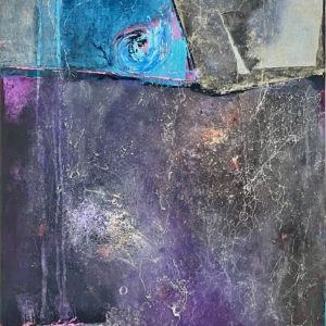 Queen of the Night 24x18 oil, cold wax, mixed media on panel